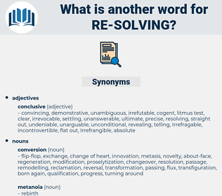re-solving, synonym re-solving, another word for re-solving, words like re-solving, thesaurus re-solving