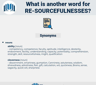 re-sourcefulnesses, synonym re-sourcefulnesses, another word for re-sourcefulnesses, words like re-sourcefulnesses, thesaurus re-sourcefulnesses