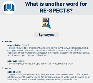 re-spects, synonym re-spects, another word for re-spects, words like re-spects, thesaurus re-spects
