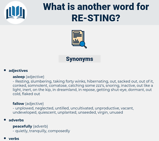 re sting, synonym re sting, another word for re sting, words like re sting, thesaurus re sting