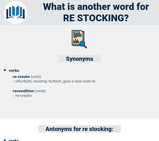 re stocking, synonym re stocking, another word for re stocking, words like re stocking, thesaurus re stocking