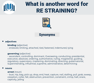 re-straining, synonym re-straining, another word for re-straining, words like re-straining, thesaurus re-straining