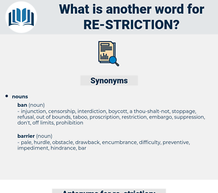 re-striction, synonym re-striction, another word for re-striction, words like re-striction, thesaurus re-striction