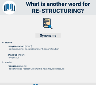 re-structuring, synonym re-structuring, another word for re-structuring, words like re-structuring, thesaurus re-structuring