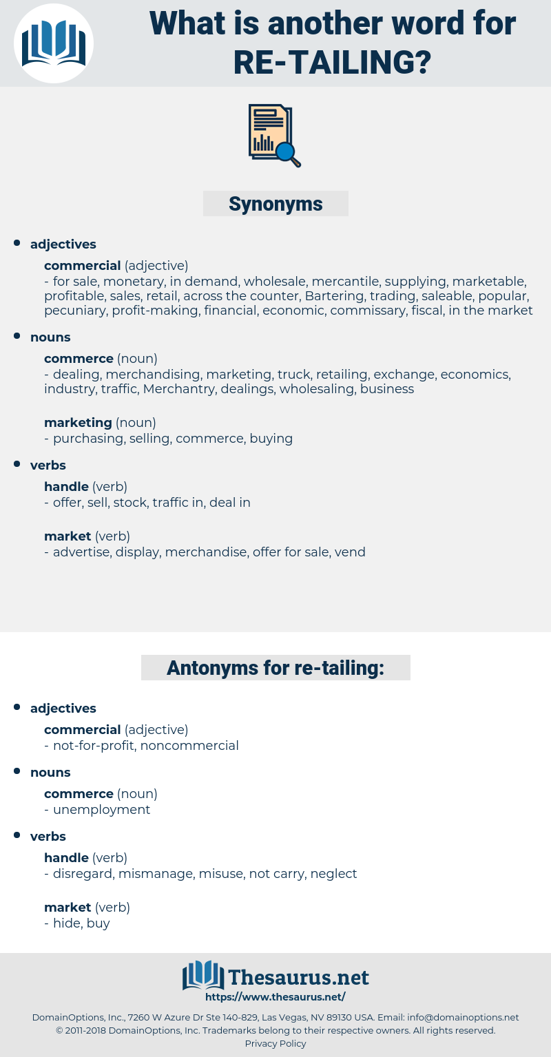 re tailing, synonym re tailing, another word for re tailing, words like re tailing, thesaurus re tailing