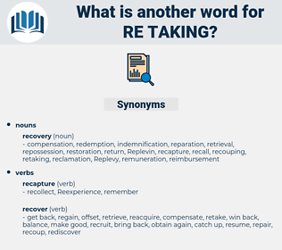 re taking, synonym re taking, another word for re taking, words like re taking, thesaurus re taking