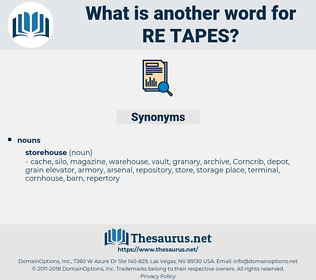 re-tapes, synonym re-tapes, another word for re-tapes, words like re-tapes, thesaurus re-tapes