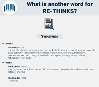 re thinks, synonym re thinks, another word for re thinks, words like re thinks, thesaurus re thinks