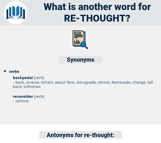 re thought, synonym re thought, another word for re thought, words like re thought, thesaurus re thought