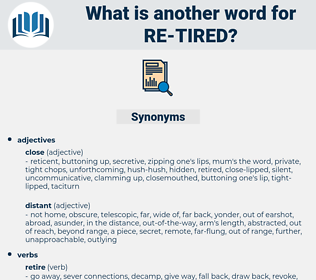 re tired, synonym re tired, another word for re tired, words like re tired, thesaurus re tired