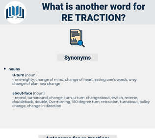 re traction, synonym re traction, another word for re traction, words like re traction, thesaurus re traction