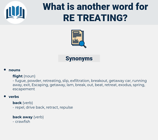 re-treating, synonym re-treating, another word for re-treating, words like re-treating, thesaurus re-treating