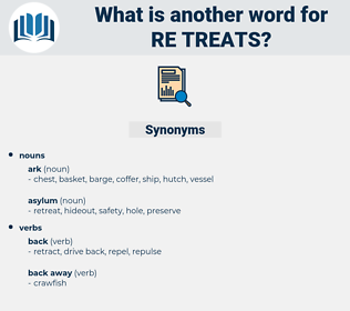 re-treats, synonym re-treats, another word for re-treats, words like re-treats, thesaurus re-treats