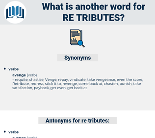 re tributes, synonym re tributes, another word for re tributes, words like re tributes, thesaurus re tributes
