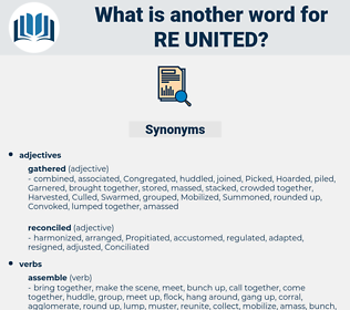 re-united, synonym re-united, another word for re-united, words like re-united, thesaurus re-united