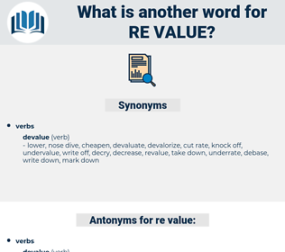 re value, synonym re value, another word for re value, words like re value, thesaurus re value