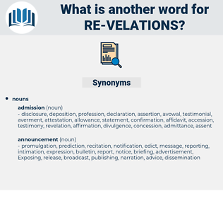 re velations, synonym re velations, another word for re velations, words like re velations, thesaurus re velations