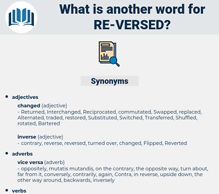 re-versed, synonym re-versed, another word for re-versed, words like re-versed, thesaurus re-versed