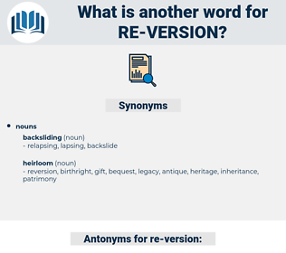 re version, synonym re version, another word for re version, words like re version, thesaurus re version
