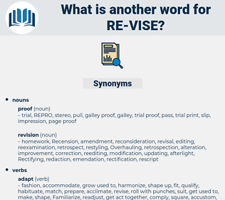 re vise, synonym re vise, another word for re vise, words like re vise, thesaurus re vise