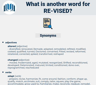 re vised, synonym re vised, another word for re vised, words like re vised, thesaurus re vised