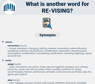 re vising, synonym re vising, another word for re vising, words like re vising, thesaurus re vising