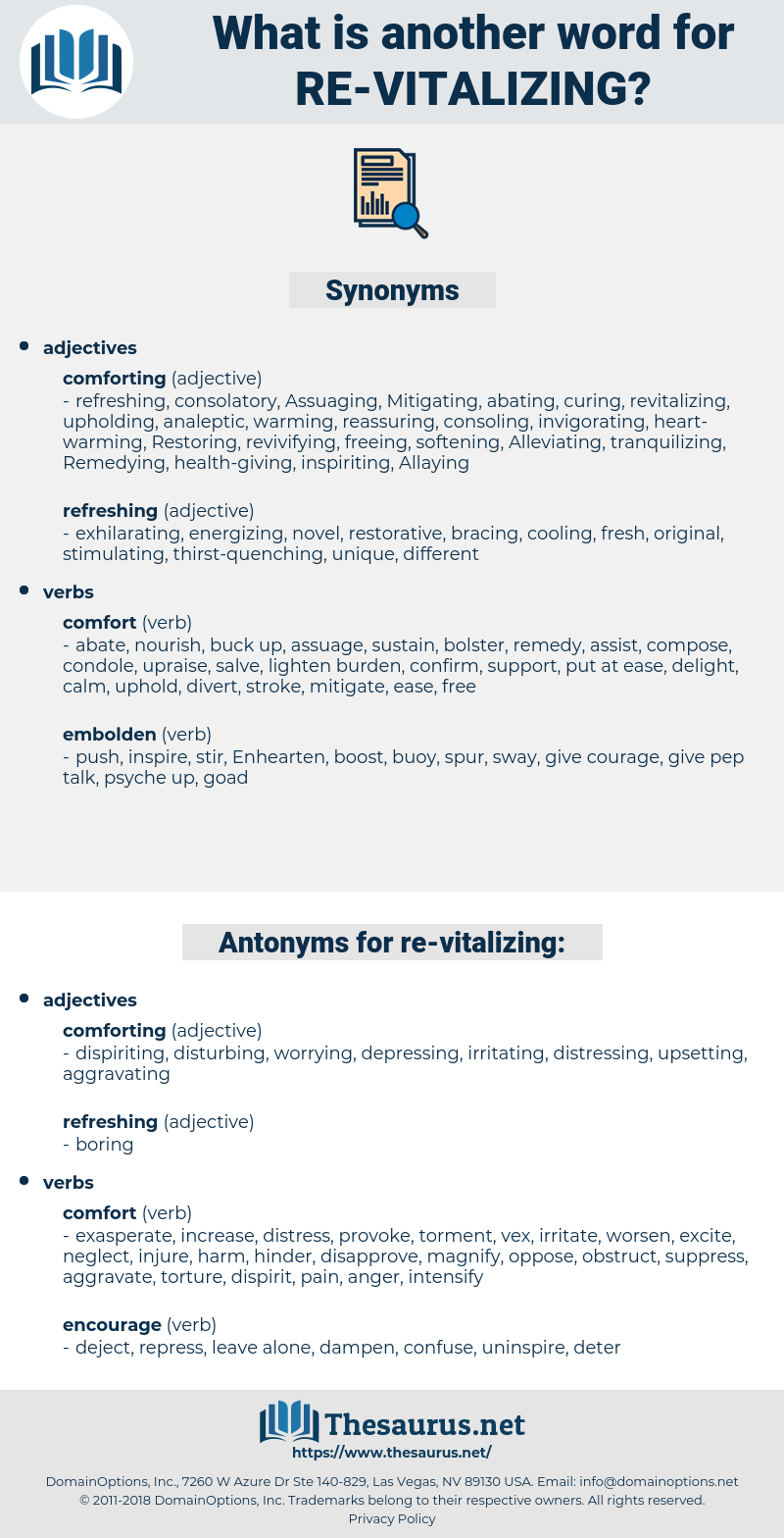 re vitalizing, synonym re vitalizing, another word for re vitalizing, words like re vitalizing, thesaurus re vitalizing