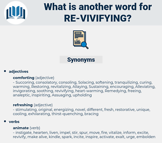 re-vivifying, synonym re-vivifying, another word for re-vivifying, words like re-vivifying, thesaurus re-vivifying