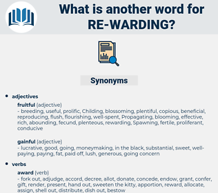 re-warding, synonym re-warding, another word for re-warding, words like re-warding, thesaurus re-warding
