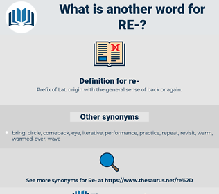 re, synonym re, another word for re, words like re, thesaurus re