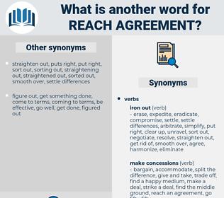 reach agreement, synonym reach agreement, another word for reach agreement, words like reach agreement, thesaurus reach agreement