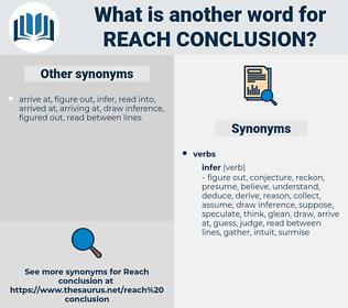 reach conclusion, synonym reach conclusion, another word for reach conclusion, words like reach conclusion, thesaurus reach conclusion