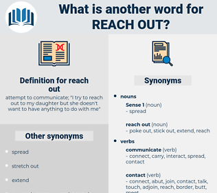 reach out, synonym reach out, another word for reach out, words like reach out, thesaurus reach out