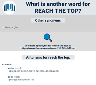 reach the top, synonym reach the top, another word for reach the top, words like reach the top, thesaurus reach the top