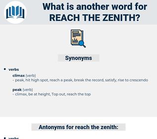 reach the zenith, synonym reach the zenith, another word for reach the zenith, words like reach the zenith, thesaurus reach the zenith