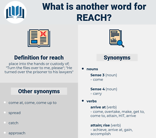 reach, synonym reach, another word for reach, words like reach, thesaurus reach