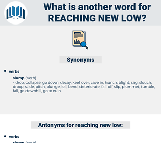reaching new low, synonym reaching new low, another word for reaching new low, words like reaching new low, thesaurus reaching new low