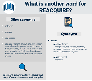reacquire, synonym reacquire, another word for reacquire, words like reacquire, thesaurus reacquire