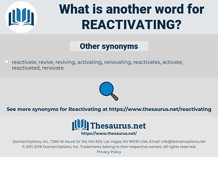 reactivating, synonym reactivating, another word for reactivating, words like reactivating, thesaurus reactivating