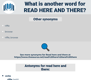 read here and there, synonym read here and there, another word for read here and there, words like read here and there, thesaurus read here and there