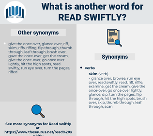 read swiftly, synonym read swiftly, another word for read swiftly, words like read swiftly, thesaurus read swiftly