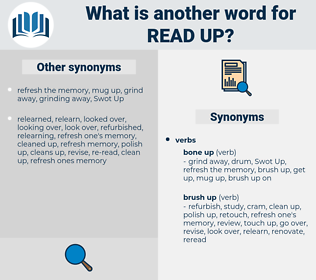 read up, synonym read up, another word for read up, words like read up, thesaurus read up