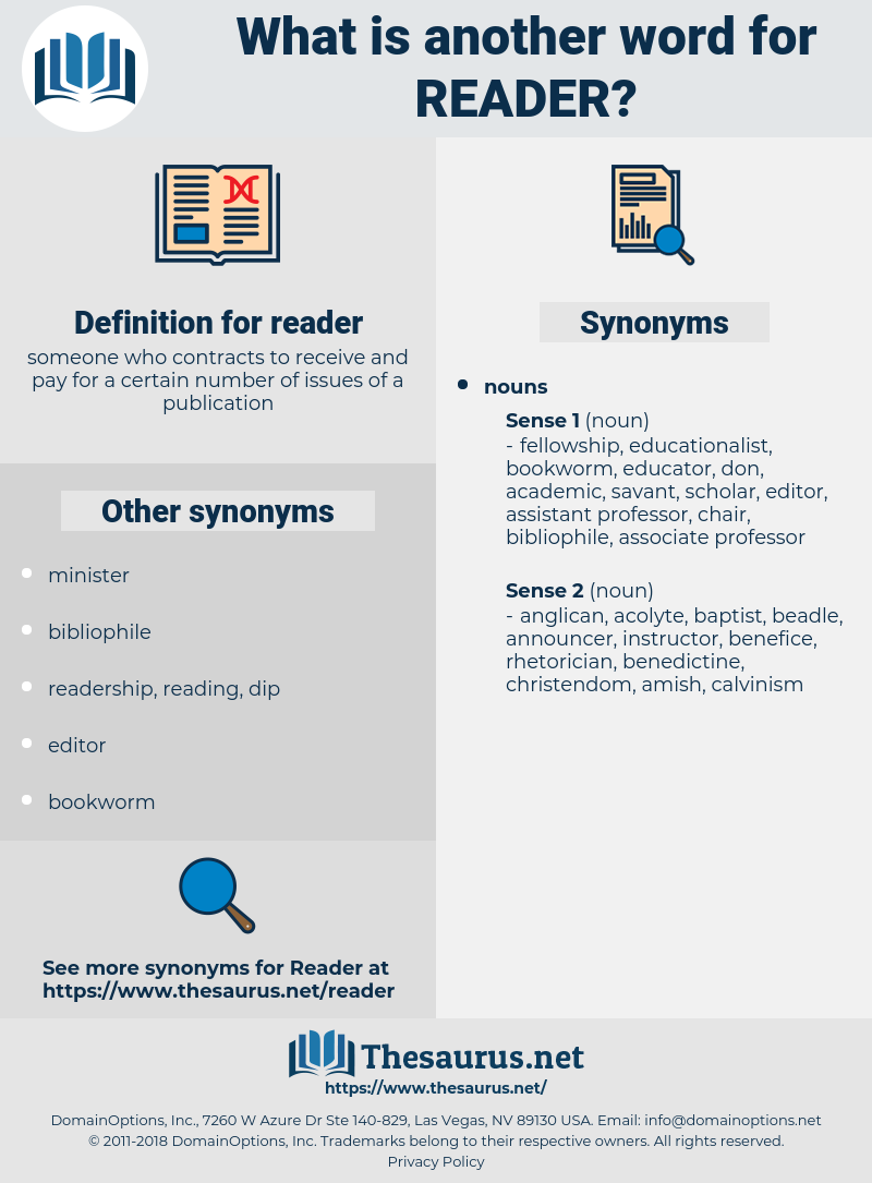 reader, synonym reader, another word for reader, words like reader, thesaurus reader