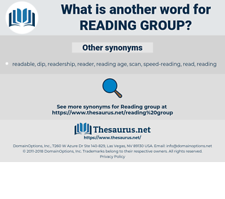 reading group, synonym reading group, another word for reading group, words like reading group, thesaurus reading group
