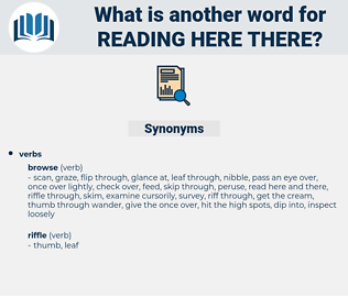 reading here there, synonym reading here there, another word for reading here there, words like reading here there, thesaurus reading here there