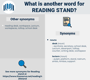 reading stand, synonym reading stand, another word for reading stand, words like reading stand, thesaurus reading stand