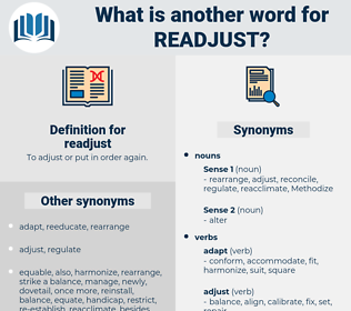 readjust, synonym readjust, another word for readjust, words like readjust, thesaurus readjust
