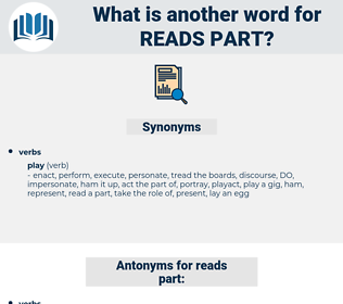 reads part, synonym reads part, another word for reads part, words like reads part, thesaurus reads part
