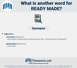 ready made, synonym ready made, another word for ready made, words like ready made, thesaurus ready made