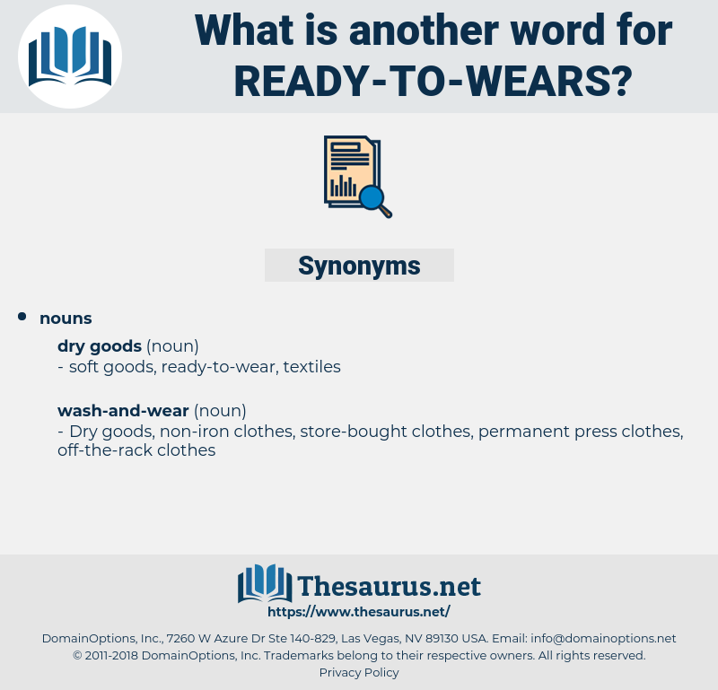 ready-to-wears, synonym ready-to-wears, another word for ready-to-wears, words like ready-to-wears, thesaurus ready-to-wears